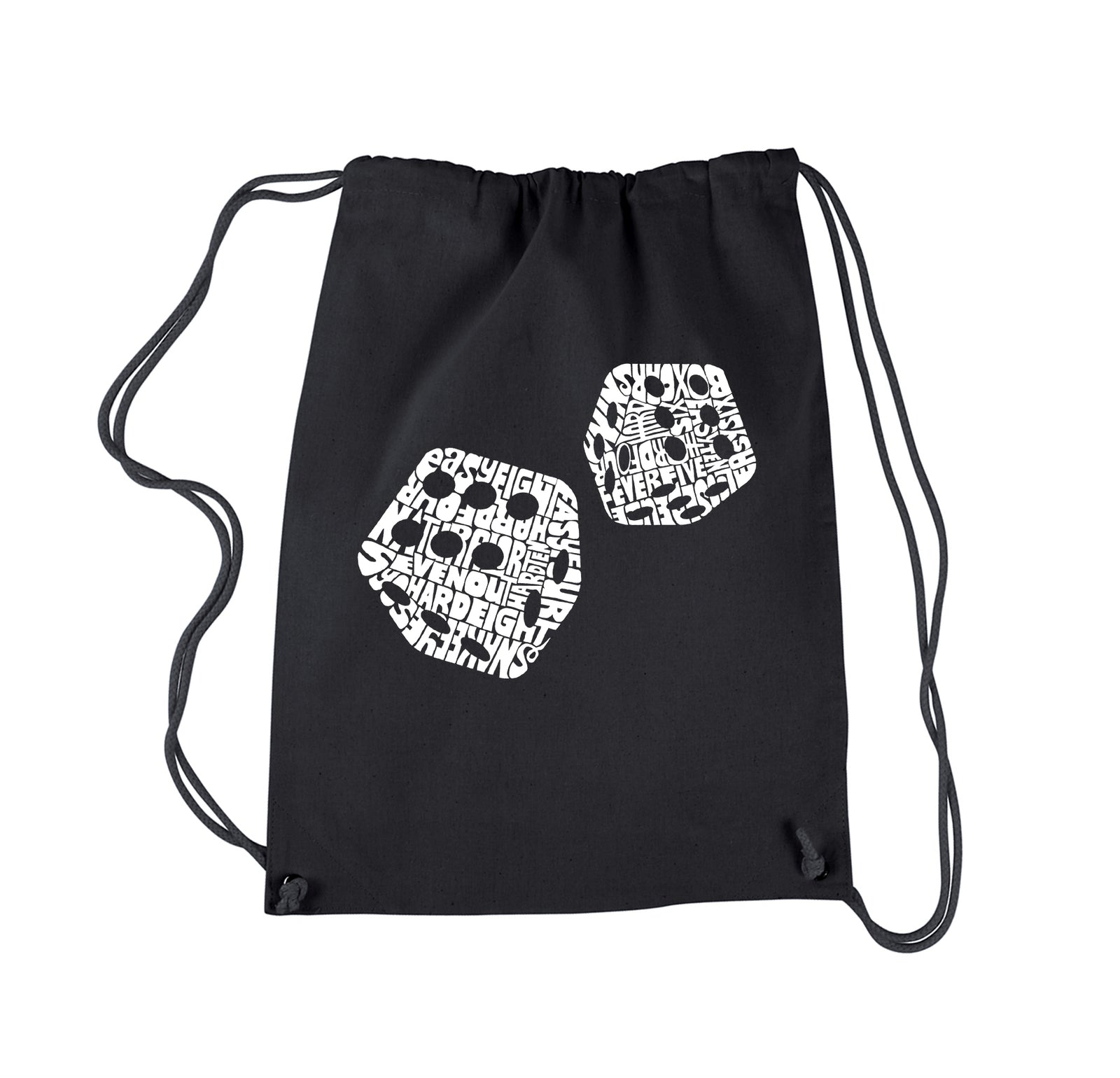Drawstring Backpack - DIFFERENT ROLLS THROWN IN THE GAME OF CRAPS