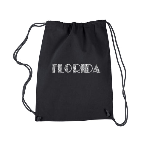 Drawstring Backpack - POPULAR CITIES IN FLORIDA