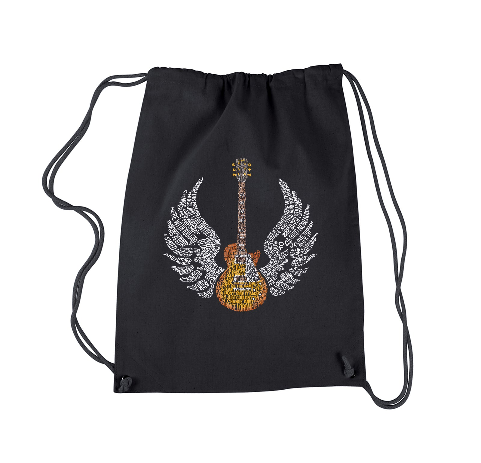 Drawstring Backpack - LYRICS TO FREE BIRD