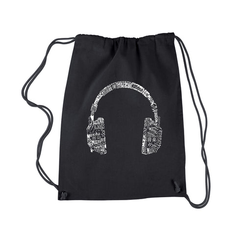 Drawstring Backpack - HEADPHONES - LANGUAGES