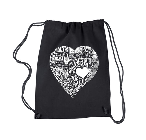 Drawstring Backpack - LOVE IN 44 DIFFERENT LANGUAGES