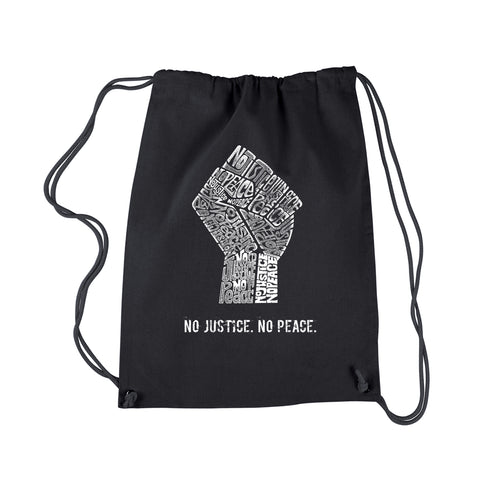 Drawstring Backpack - No Justice, No Peace