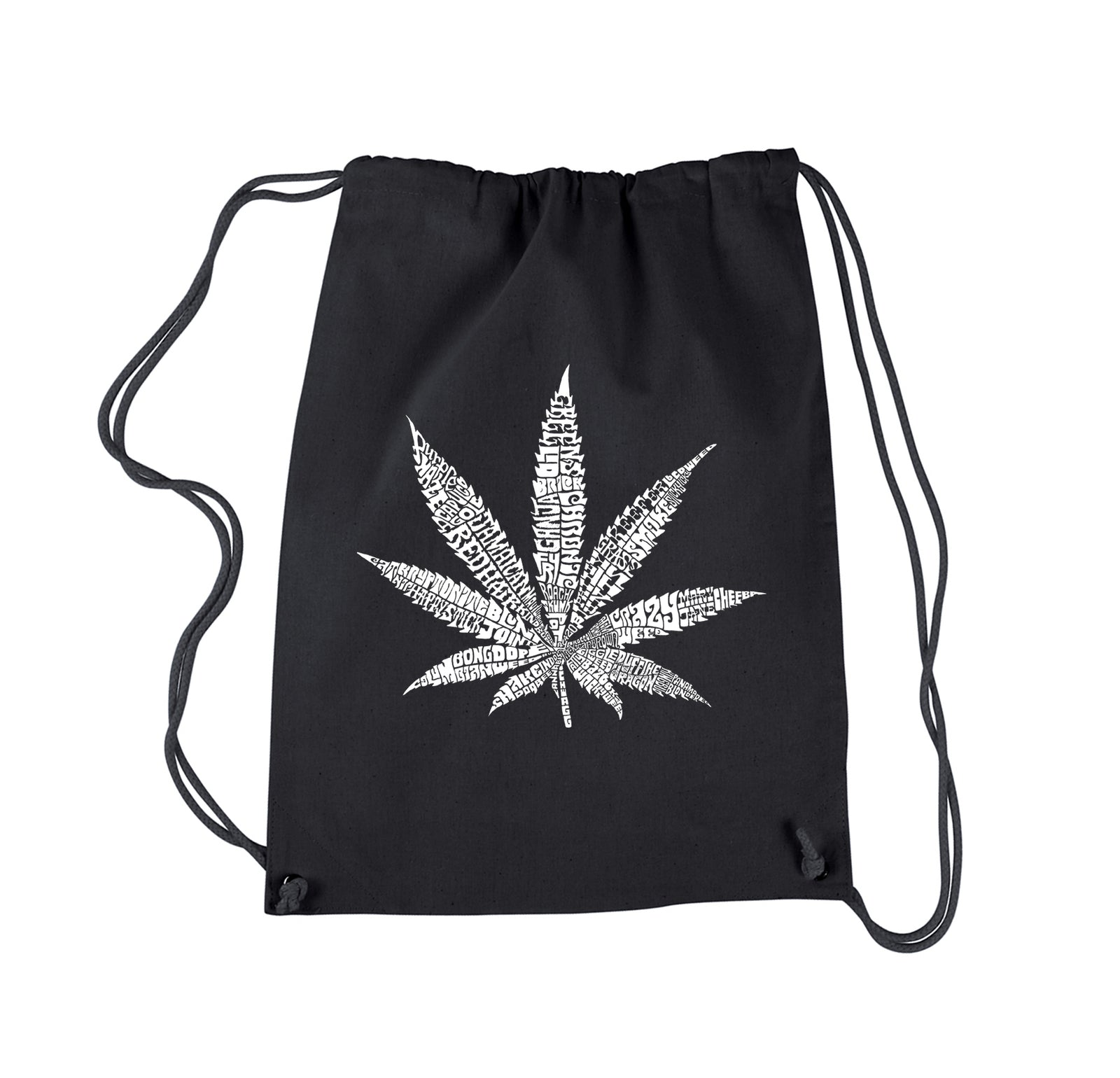 Drawstring Backpack - 50 DIFFERENT STREET TERMS FOR MARIJUANA