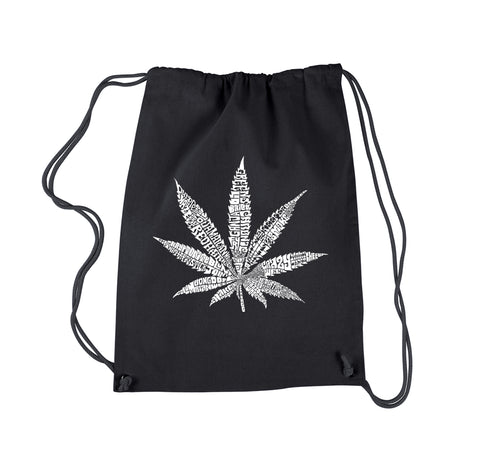 Drawstring Backpack - Rasta Lion - One Love
