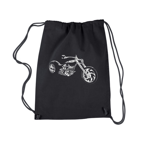 Drawstring Backpack - MOTORCYCLE