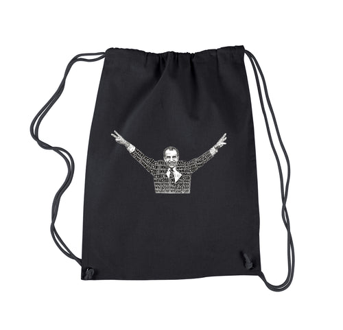 Drawstring Backpack - I'M NOT A CROOK