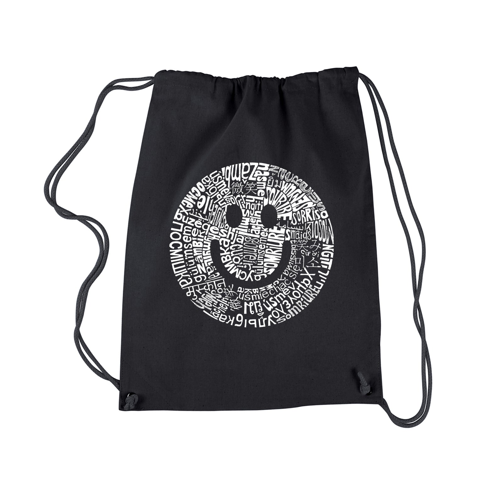 Drawstring Backpack - SMILE IN DIFFERENT LANGUAGES