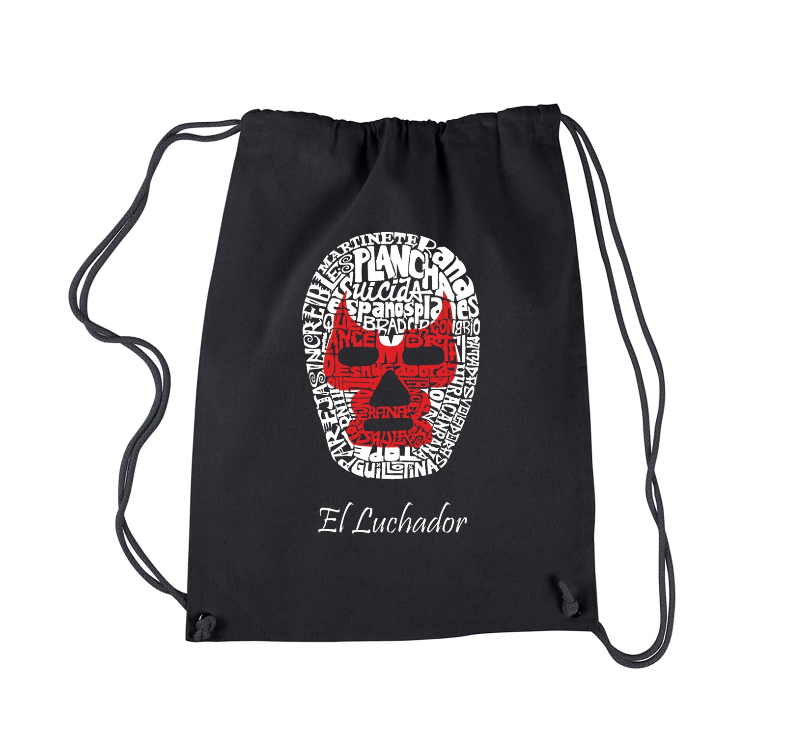 Drawstring Backpack - MEXICAN WRESTLING MASK