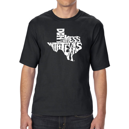 Men's Tall and Long Word Art T-shirt - DONT MESS WITH TEXAS