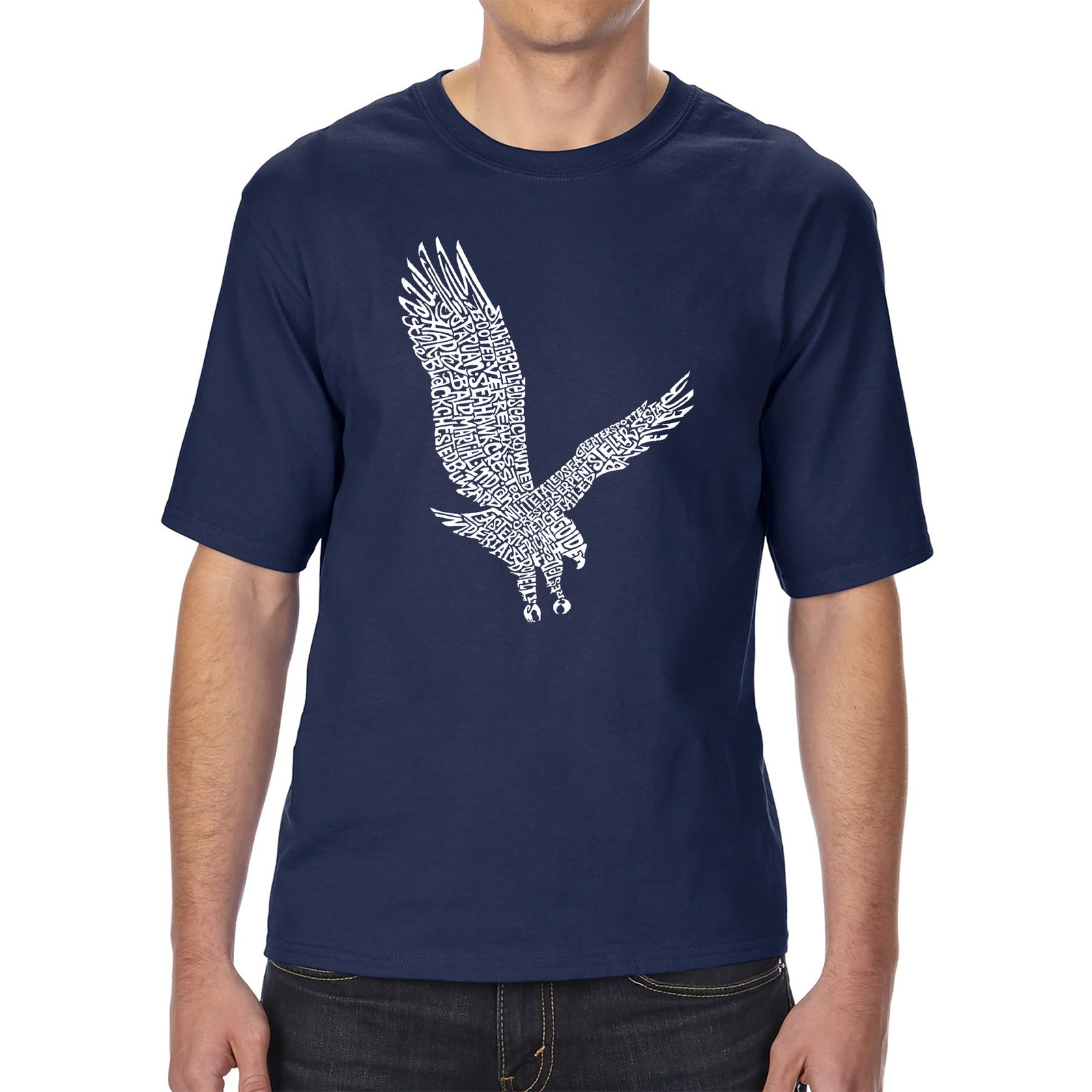 Men's Tall and Long Word Art T-shirt - Eagle