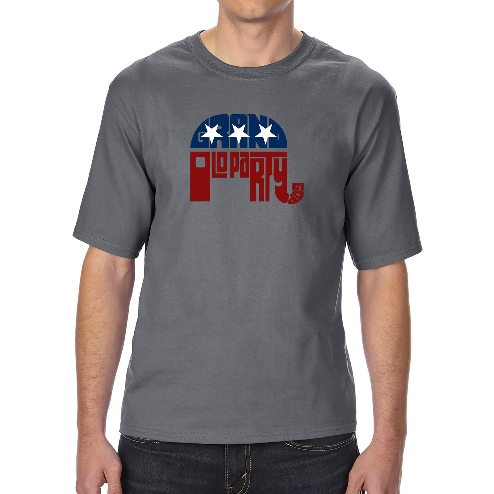 Men's Tall and Long Word Art T-shirt - REPUBLICAN - GRAND OLD PARTY