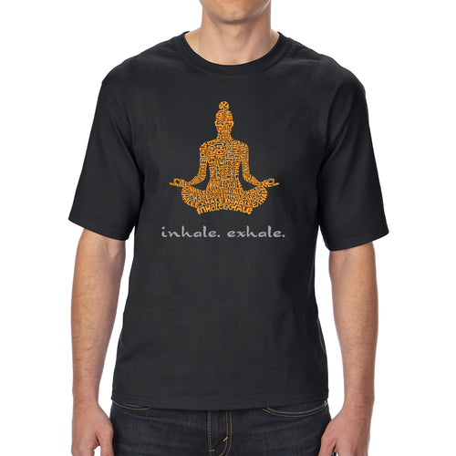 Men's Tall and Long Word Art T-shirt - Inhale Exhale