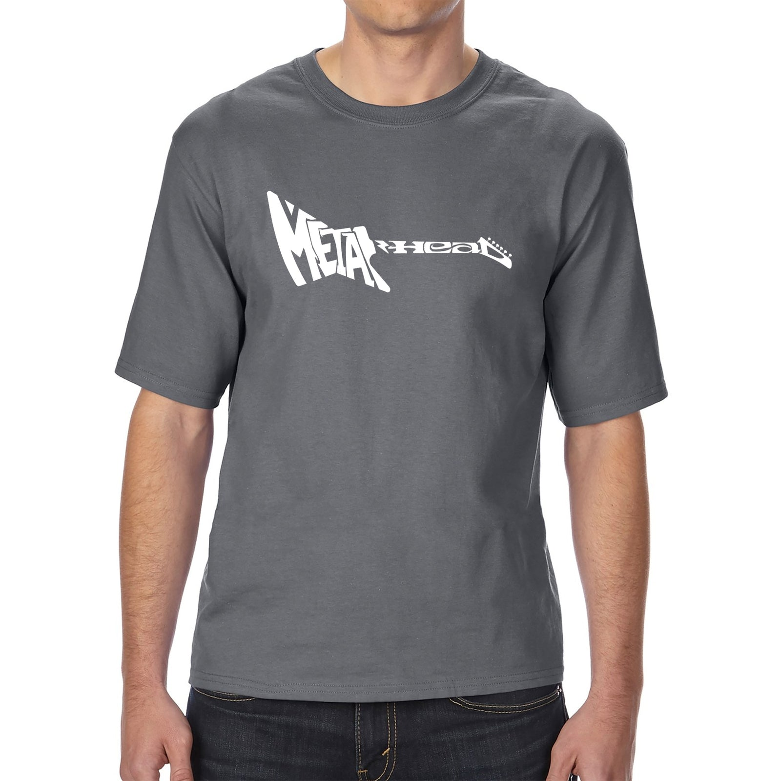Men's Tall and Long Word Art T-shirt - Metal Head