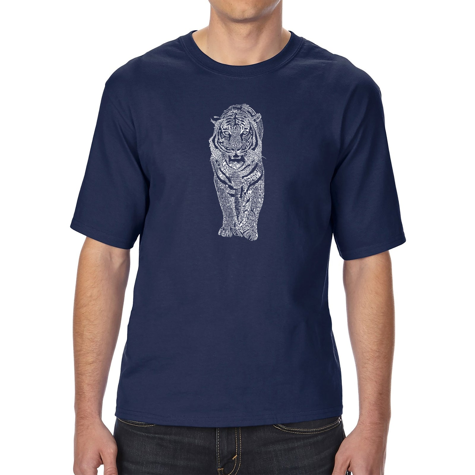 Men's Tall and Long Word Art T-shirt - TIGER