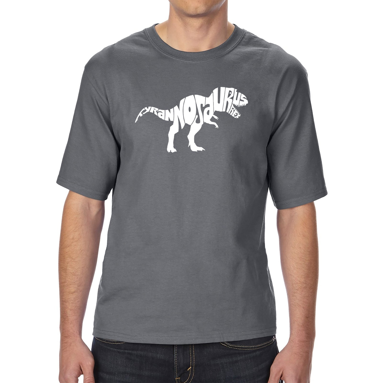 Men's Tall and Long Word Art T-shirt - TYRANNOSAURUS REX