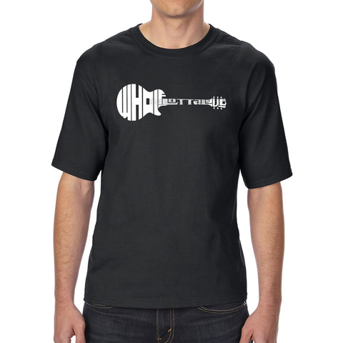 Men's Tall and Long Word Art T-shirt - Record Adapter