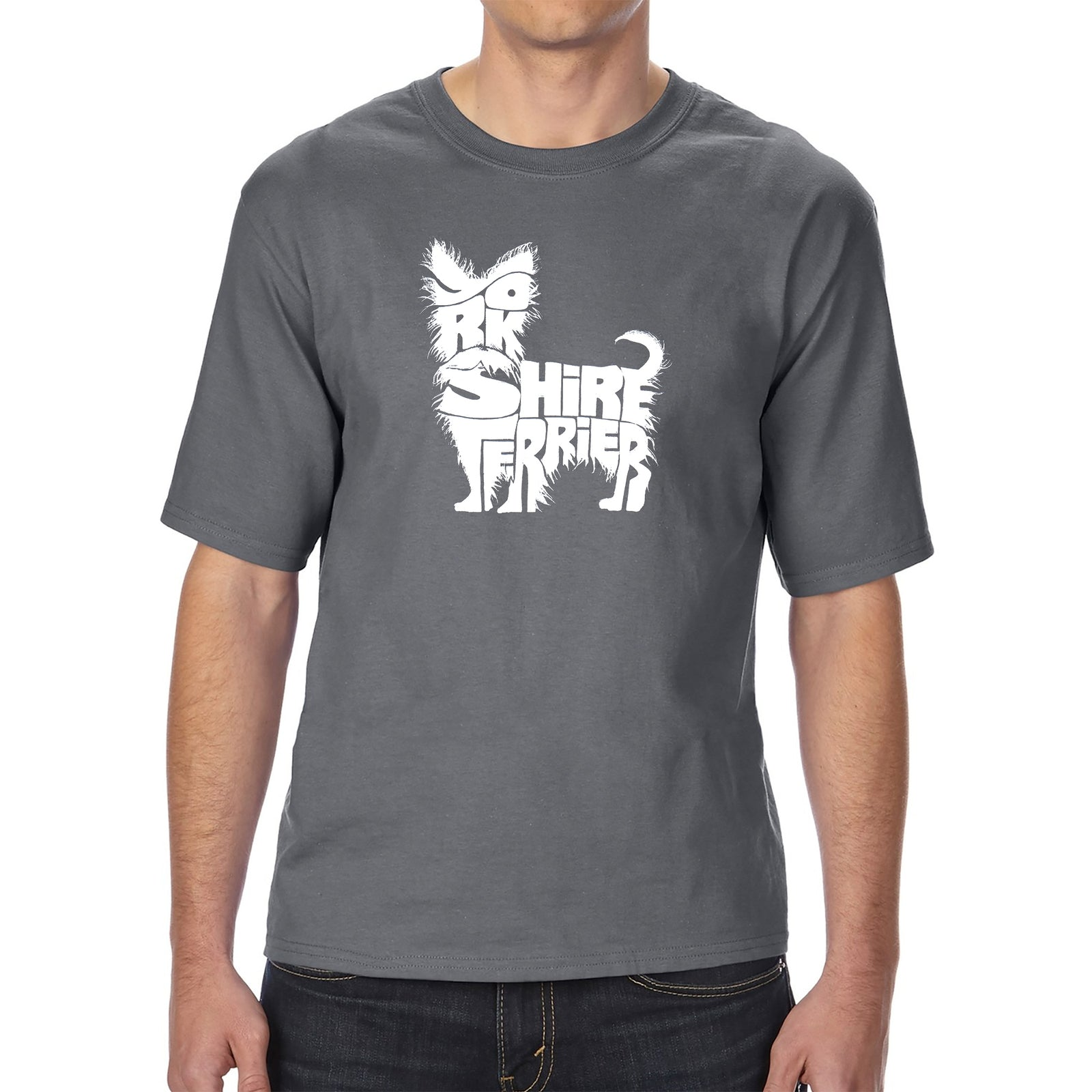 Men's Tall and Long Word Art T-shirt - Yorkie
