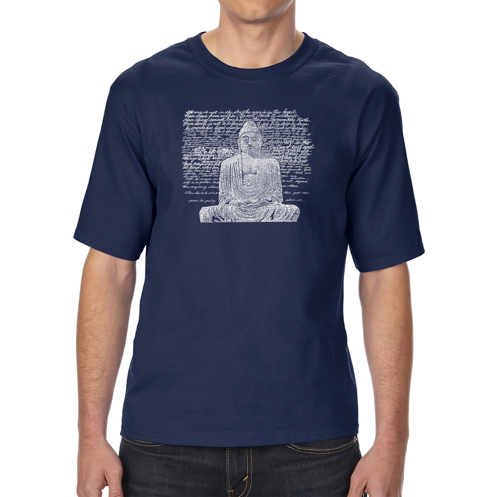 Men's Tall and Long Word Art T-shirt - Zen Buddha