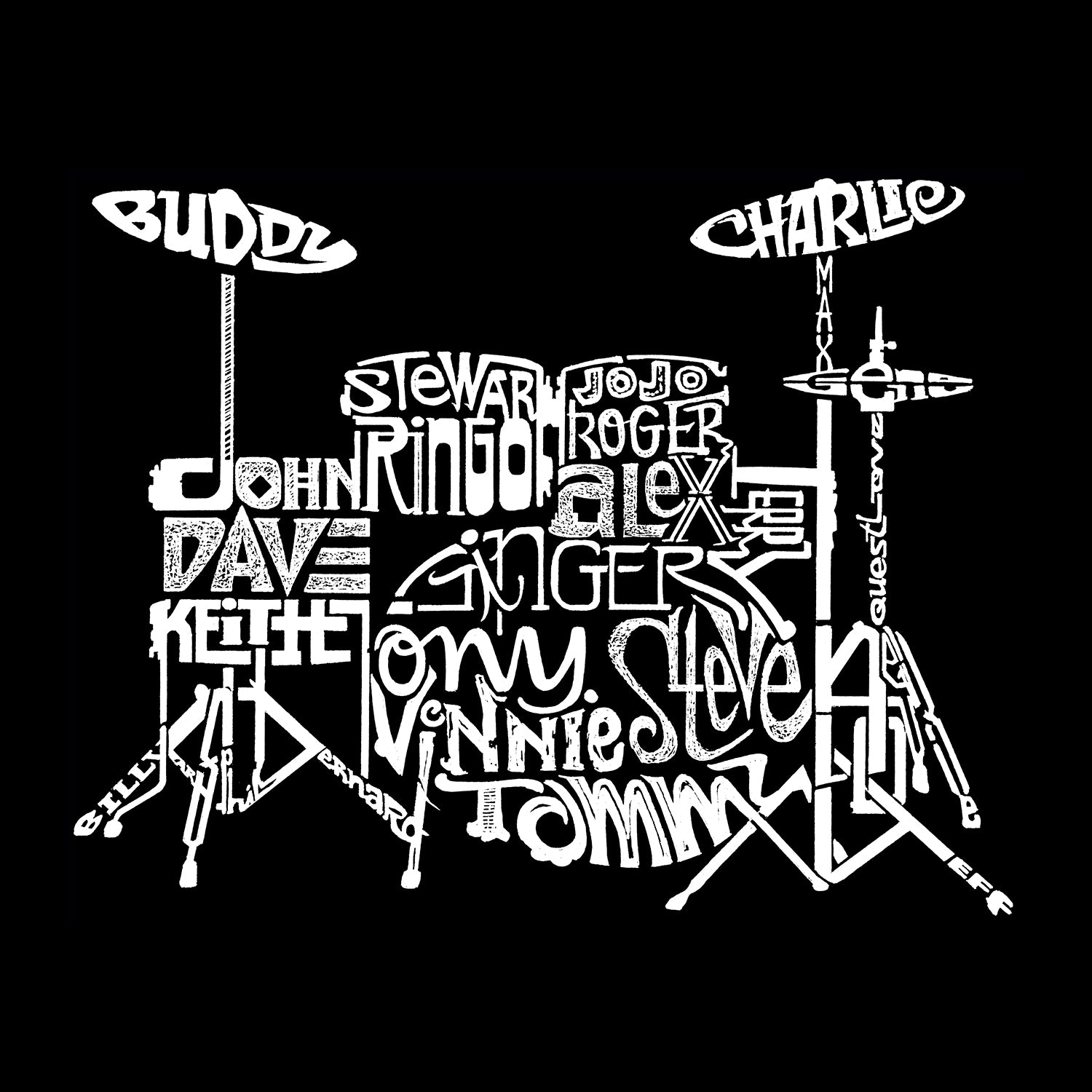 Women's Premium Blend Word Art T-shirt - Drums