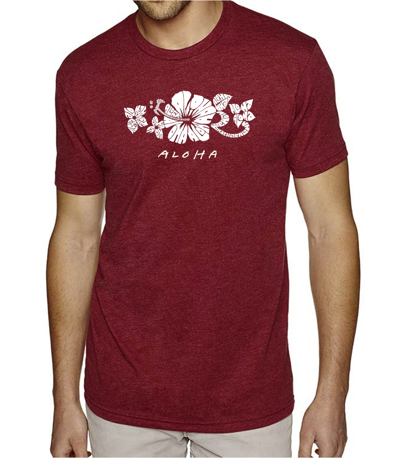 Men's Premium Blend Word Art T-shirt - ALOHA