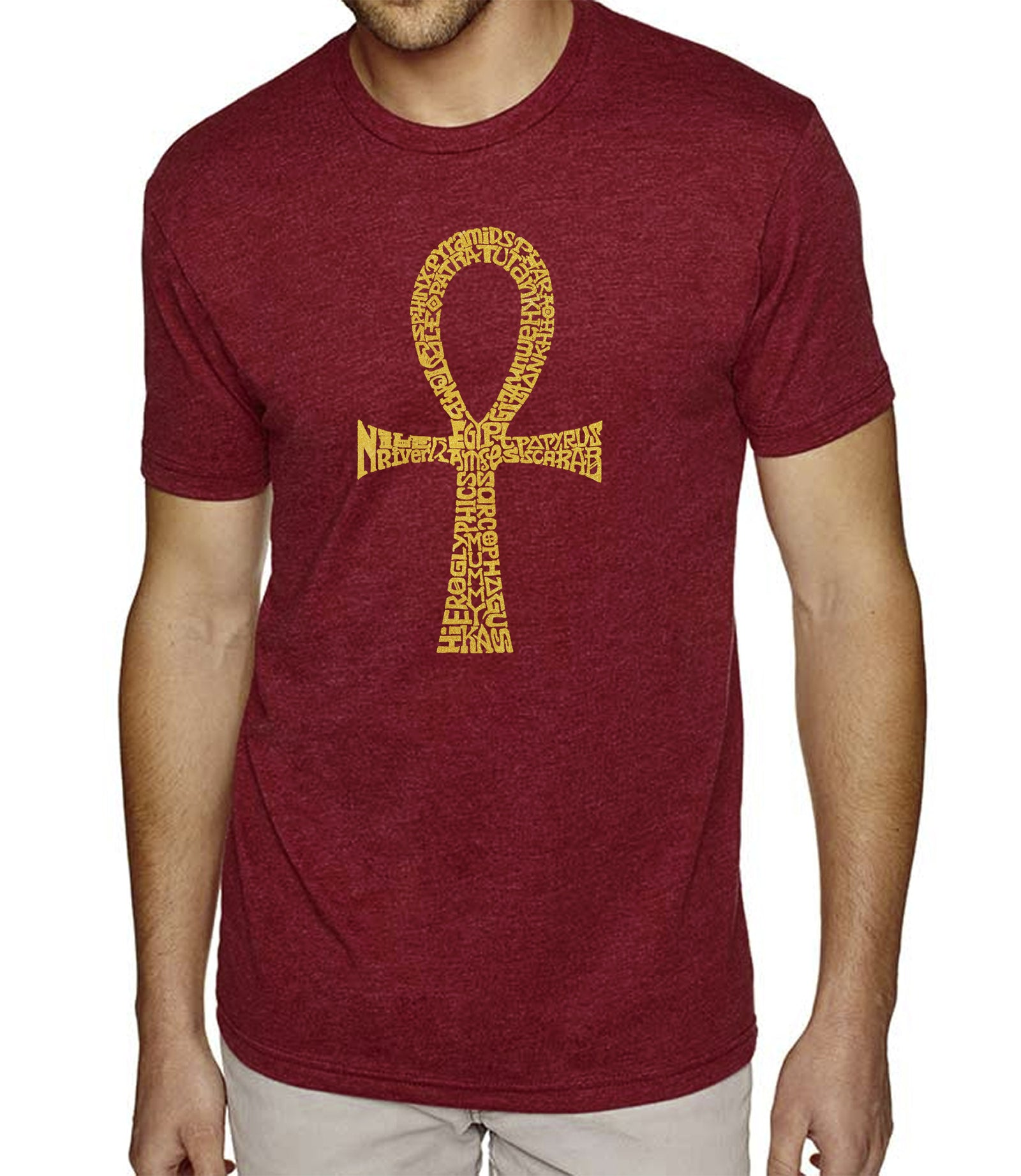 LA Pop Art Men's Premium Blend Word Art T-shirt - ANKH