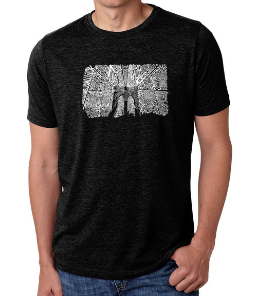 Men's Premium Blend Word Art T-shirt - Brooklyn Bridge