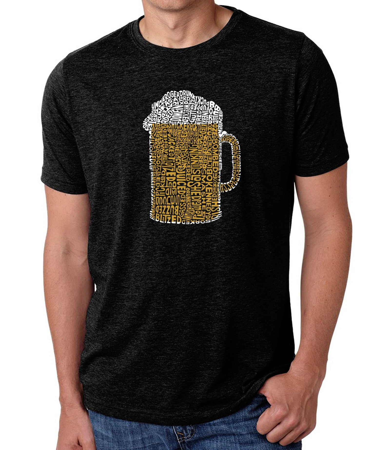 Men's Premium Blend Word Art T-shirt - Slang Terms for Being Wasted