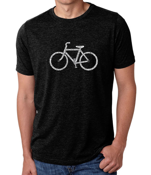 Men's Premium Blend Word Art T-shirt - SAVE A PLANET, RIDE A BIKE