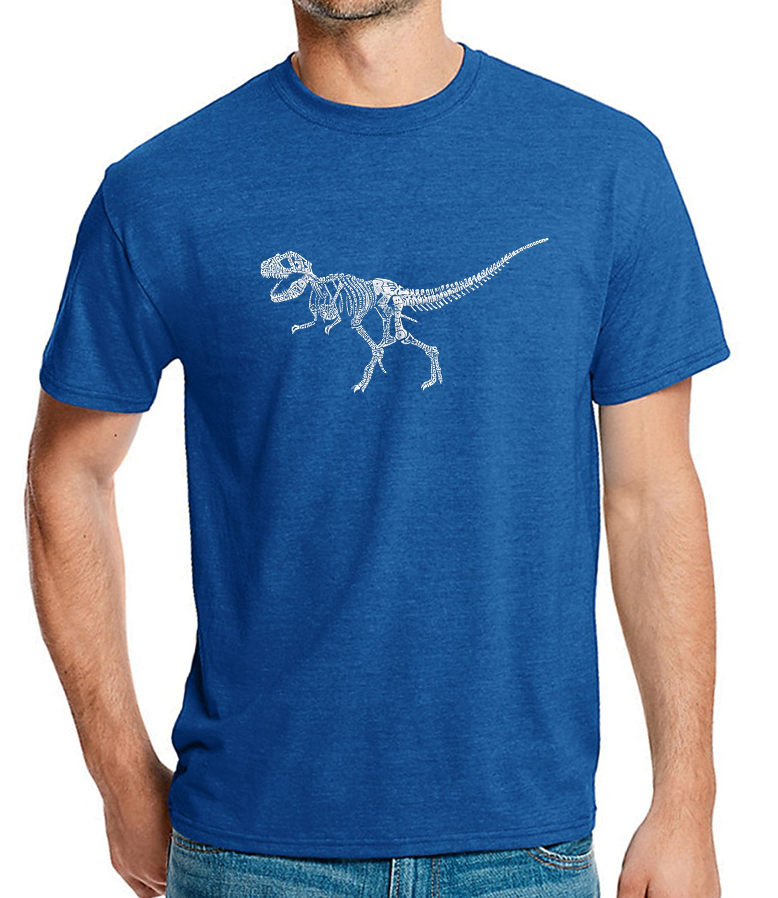 Men's Premium Blend Word Art T-shirt - Dinosaur T-Rex Skeleton
