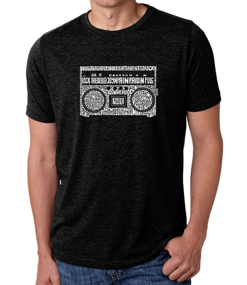 Men's Premium Blend Word Art T-shirt - Greatest Rap Hits of The 1980's