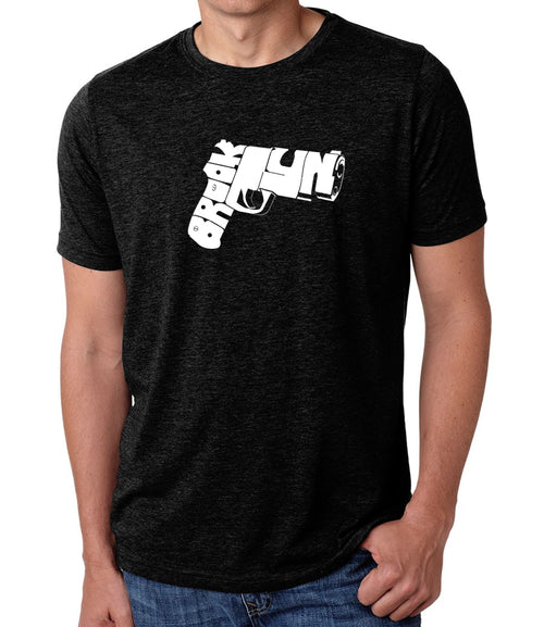 Men's Premium Blend Word Art T-shirt - BROOKLYN GUN