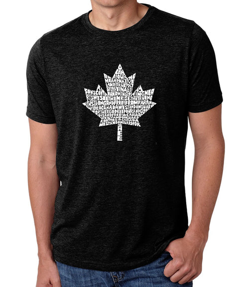 Men's Premium Blend Word Art T-shirt - CANADIAN NATIONAL ANTHEM