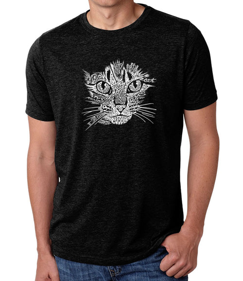 Men's Premium Blend Word Art T-shirt - Cat Face