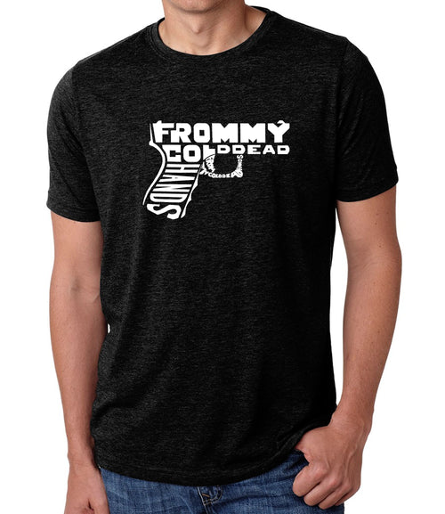 Men's Premium Blend Word Art T-shirt - Out of My cold Dead Hands Gun