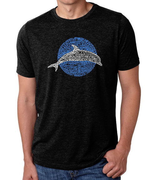 Men's Premium Blend Word Art T-shirt - Species of Dolphin