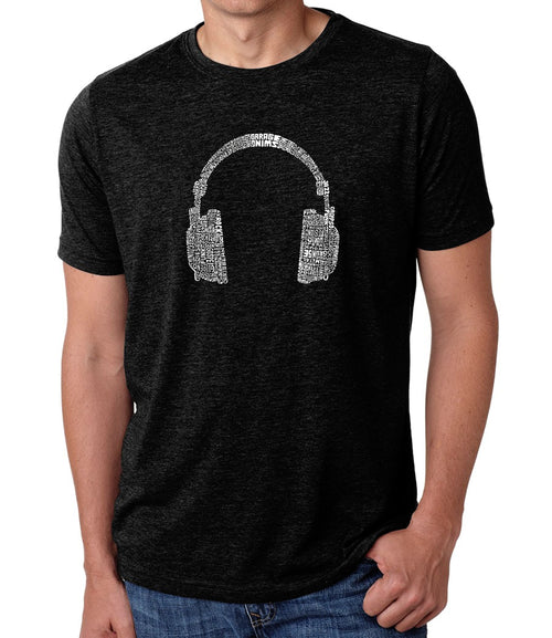 Men's Premium Blend Word Art T-shirt - 63 DIFFERENT GENRES OF MUSIC