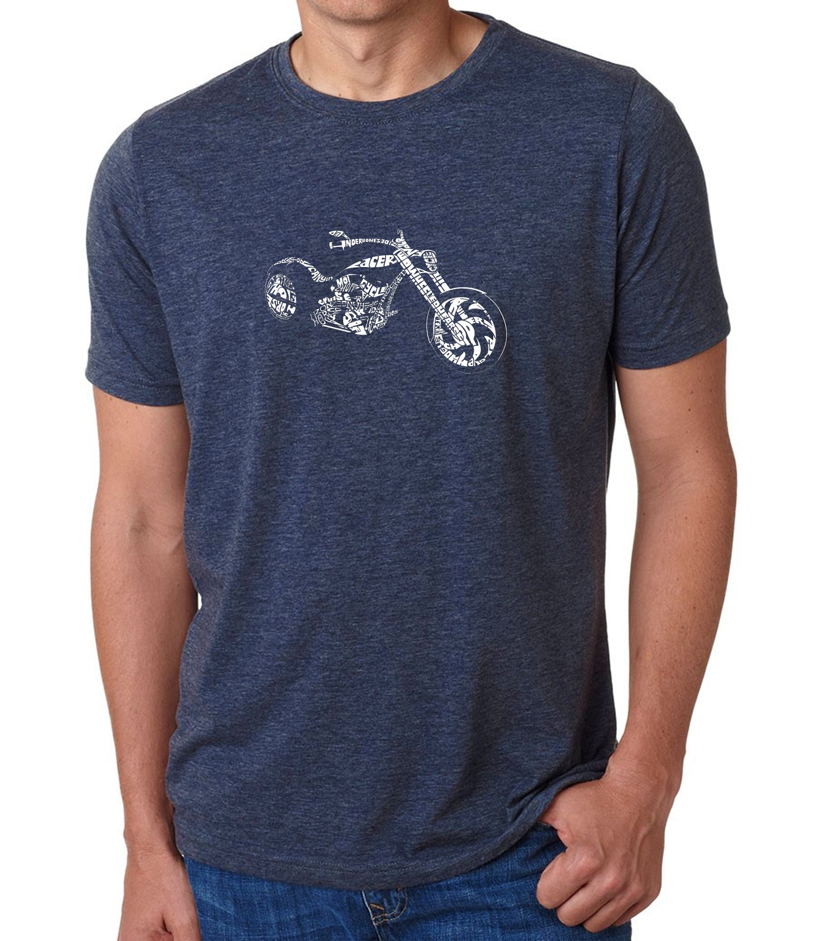 Men's Premium Blend Word Art T-shirt - MOTORCYCLE