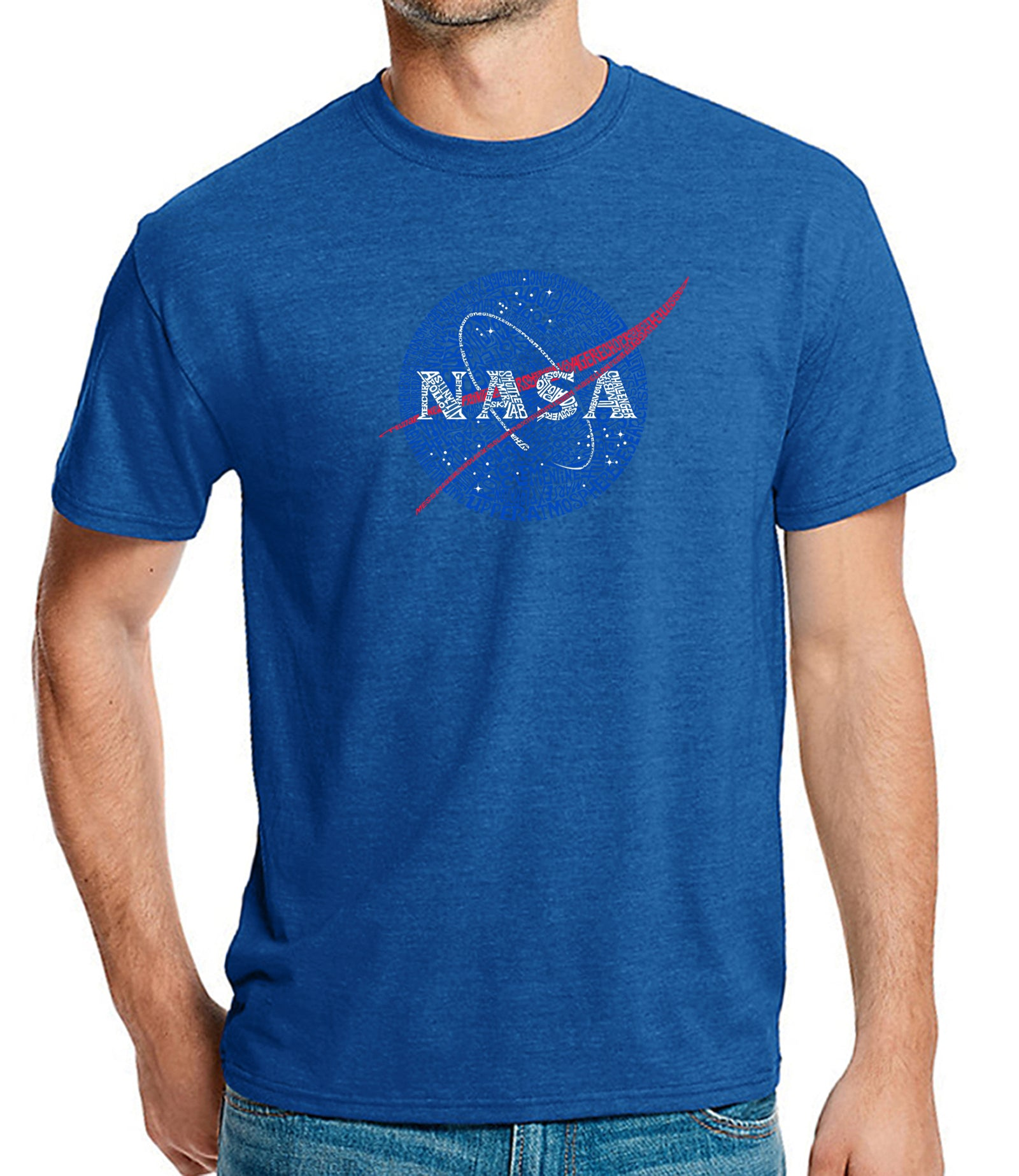 Men's Premium Blend Word Art T-shirt - NASA's Most Notable Missions