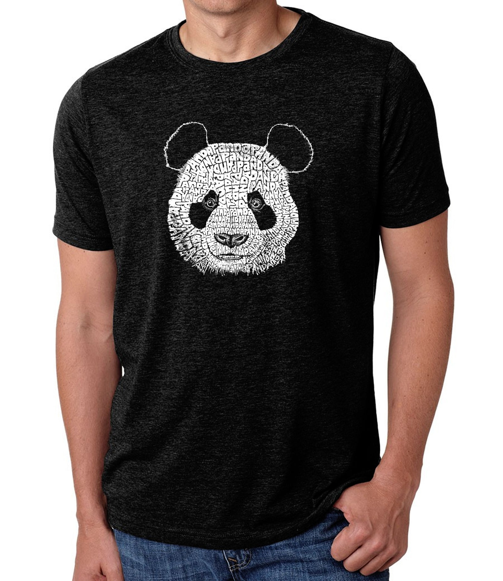 LA Pop Art Men's Premium Blend Word Art T-shirt - Panda