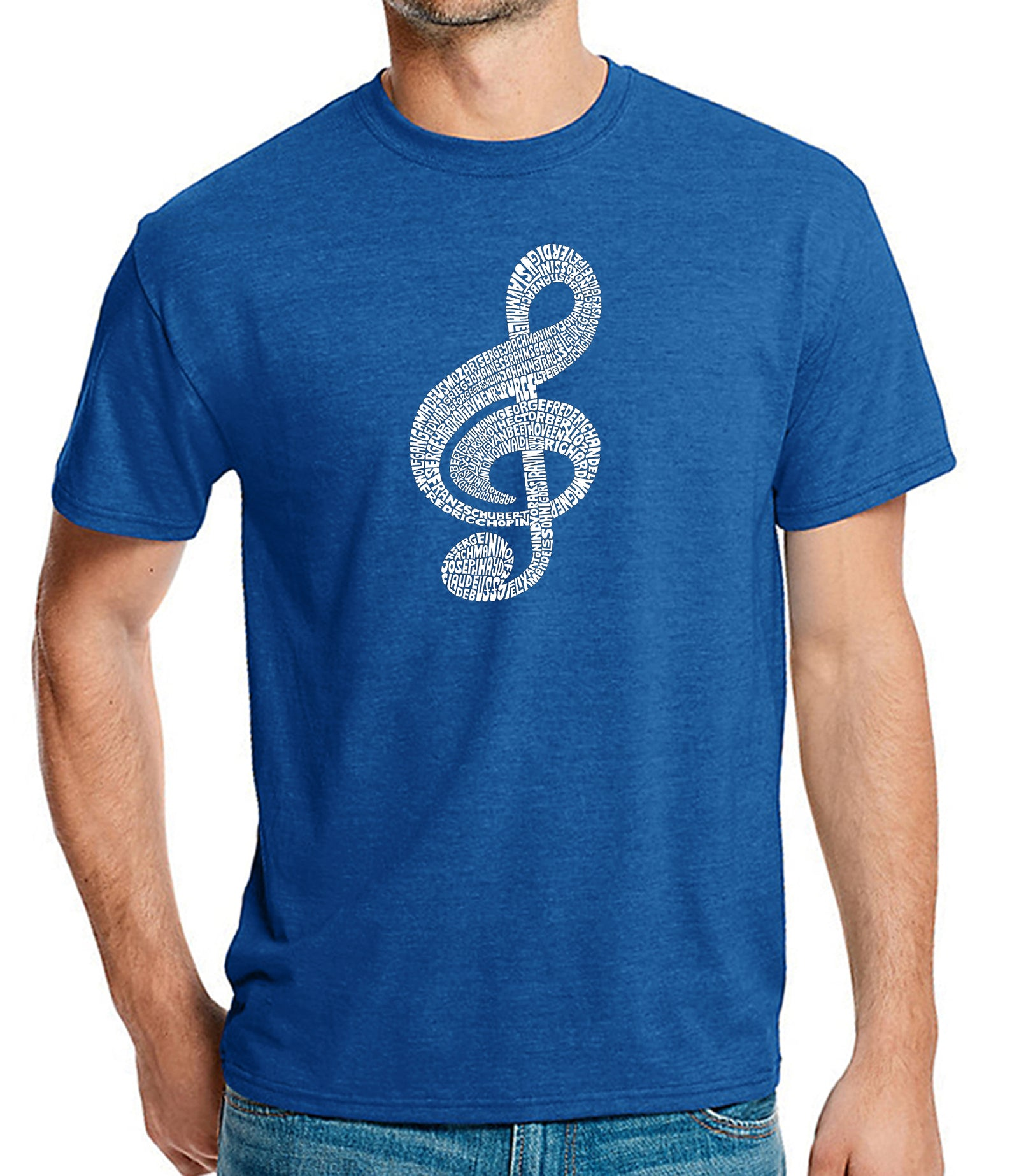 Men's Premium Blend Word Art T-shirt - Music Note
