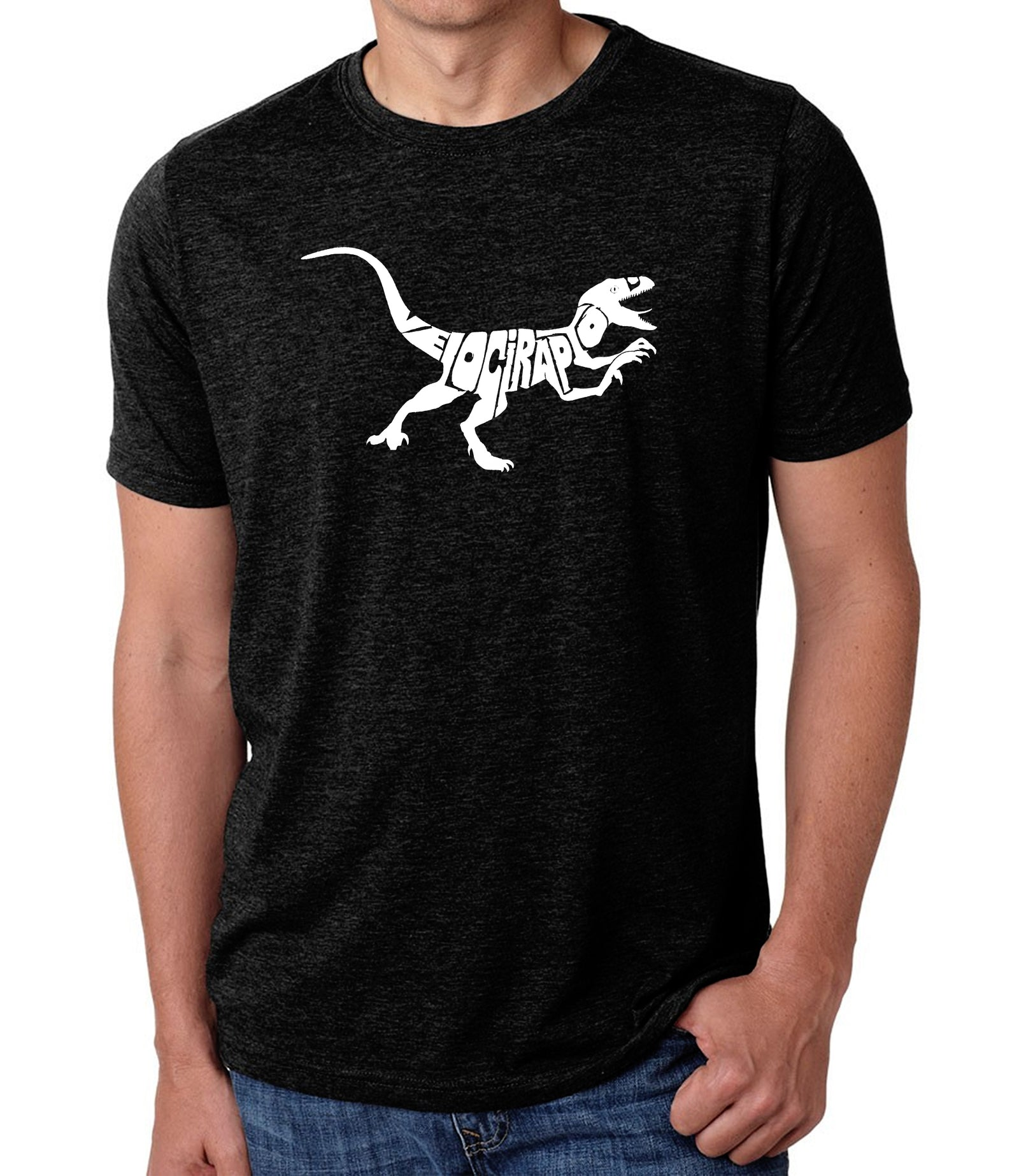 Men's Premium Blend Word Art T-shirt - Velociraptor