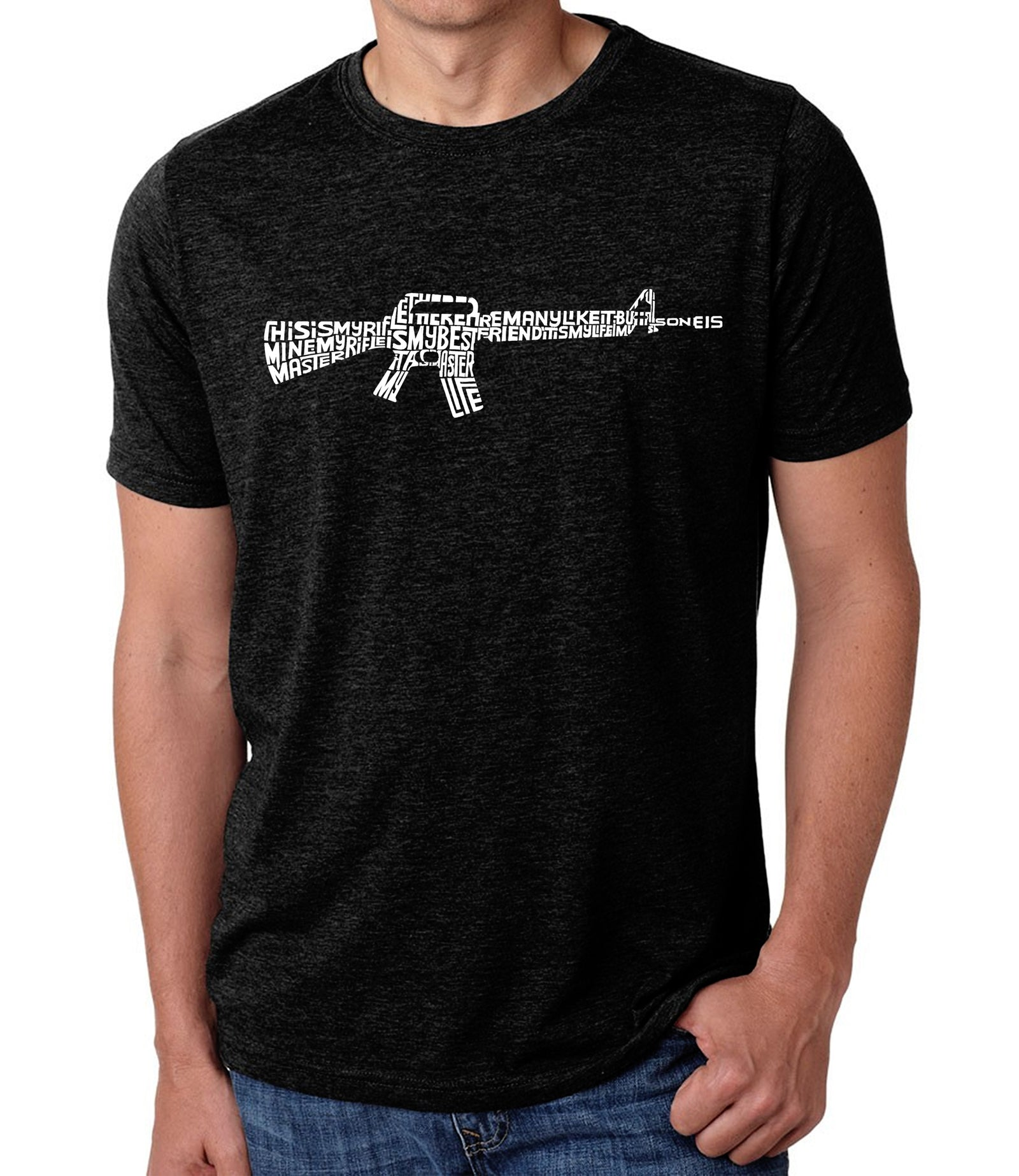 Men's Premium Blend Word Art T-shirt - RIFLEMANS CREED