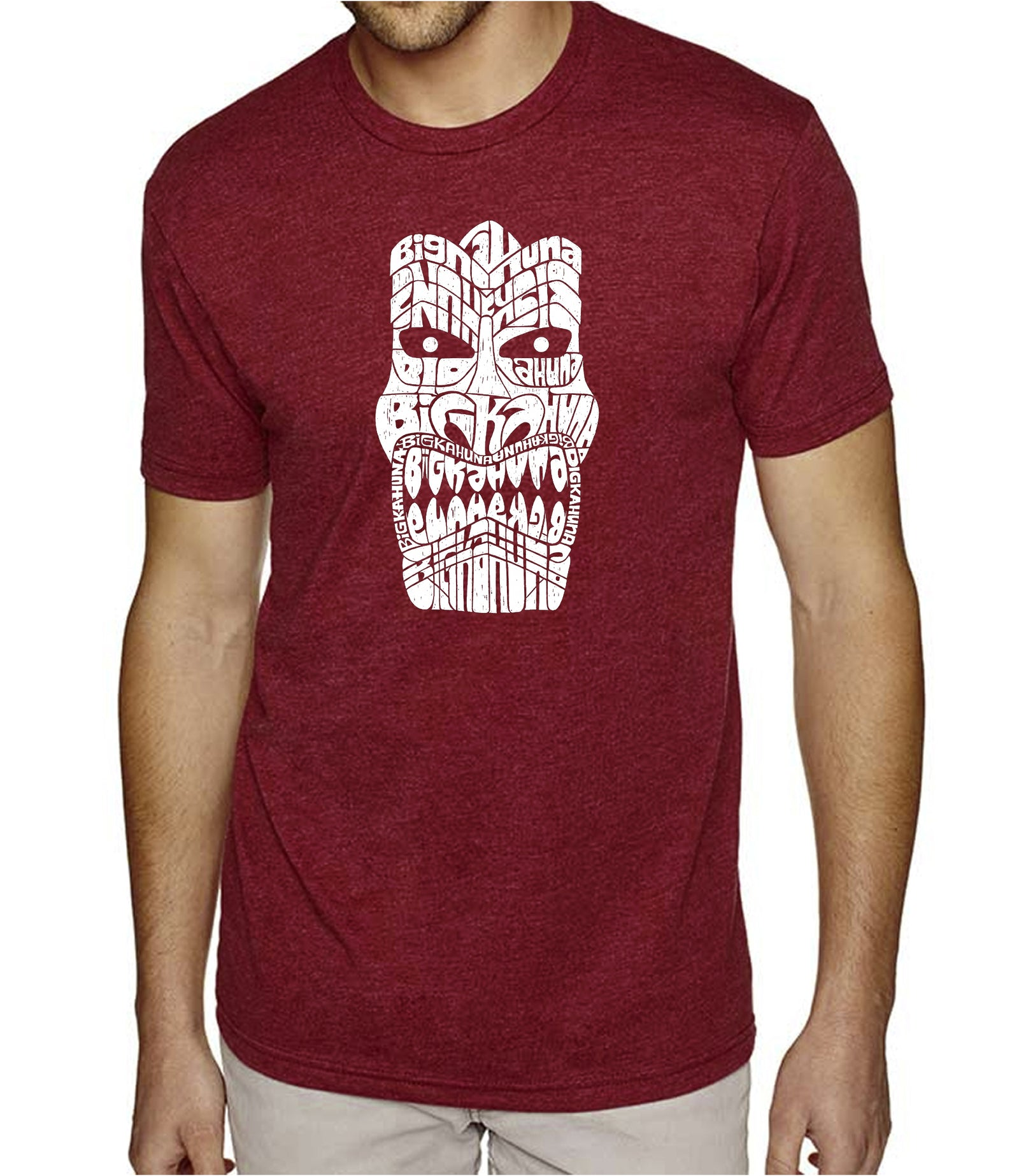 Men's Premium Blend Word Art T-shirt - TIKI - BIG KAHUNA