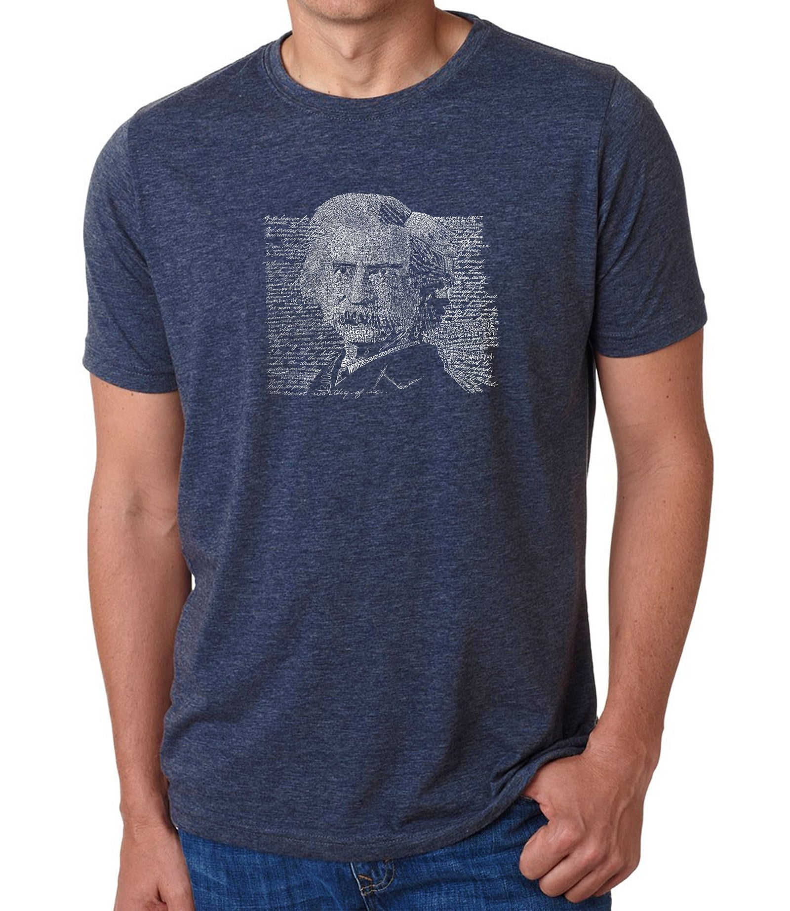 Men's Premium Blend Word Art T-shirt - Mark Twain