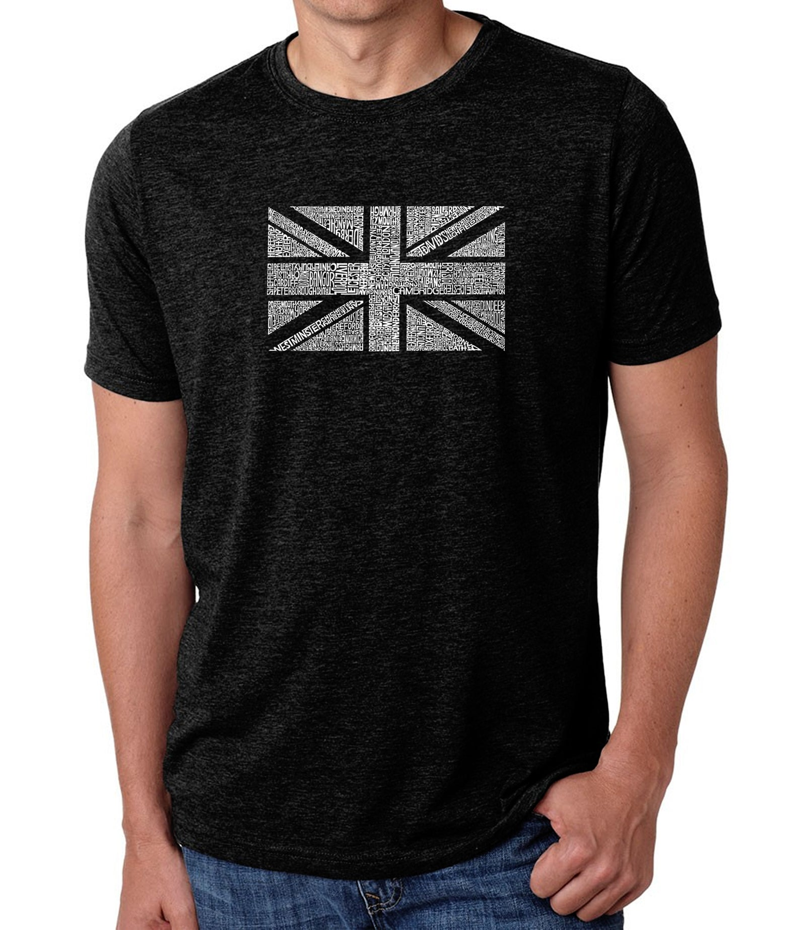 Men's Premium Blend Word Art T-shirt - UNION JACK