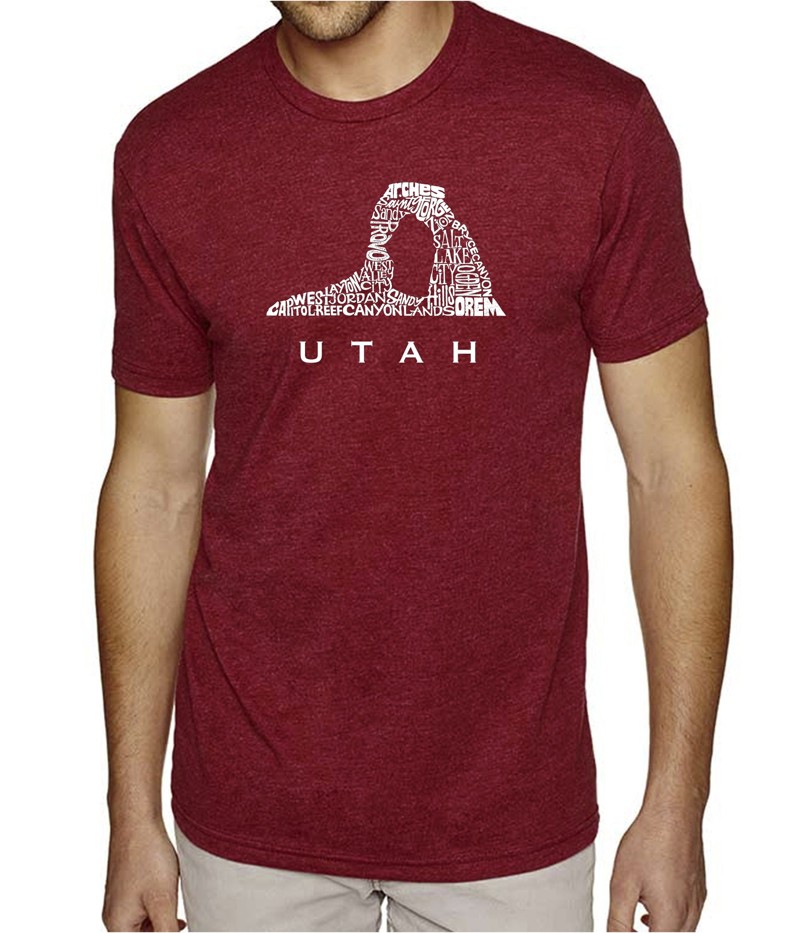 Men's Premium Blend Word Art T-shirt - Utah