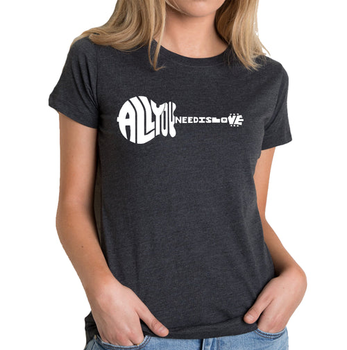 Women's Premium Blend Word Art T-shirt - All You Need Is Love