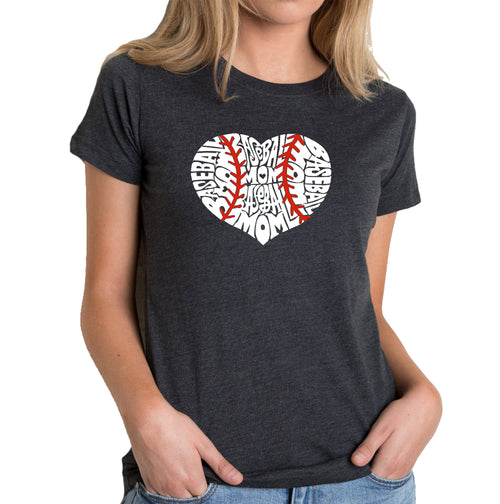 Women's Premium Blend Word Art T-shirt - Baseball Mom