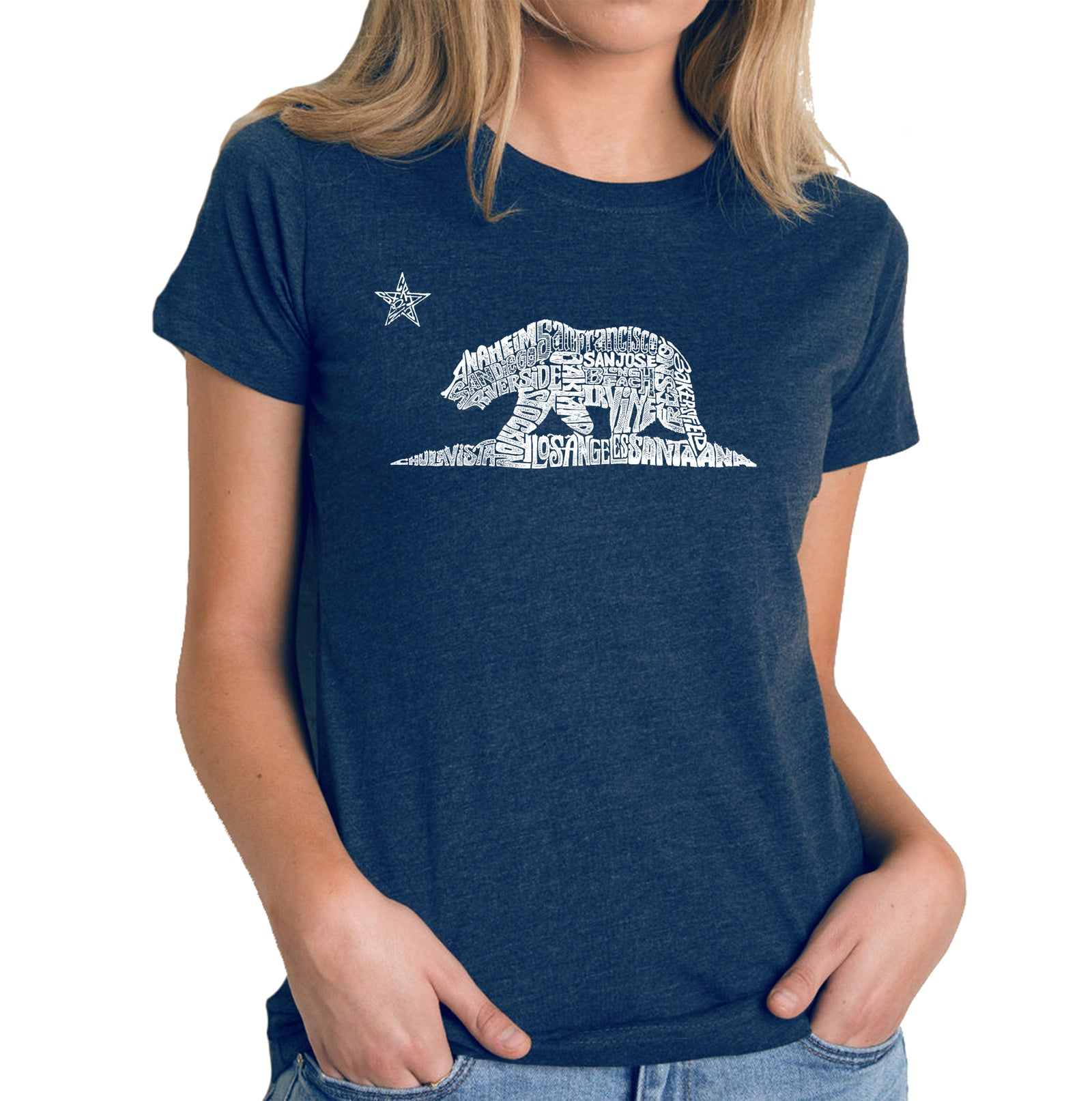 Women's Premium Blend Word Art T-shirt - California Bear