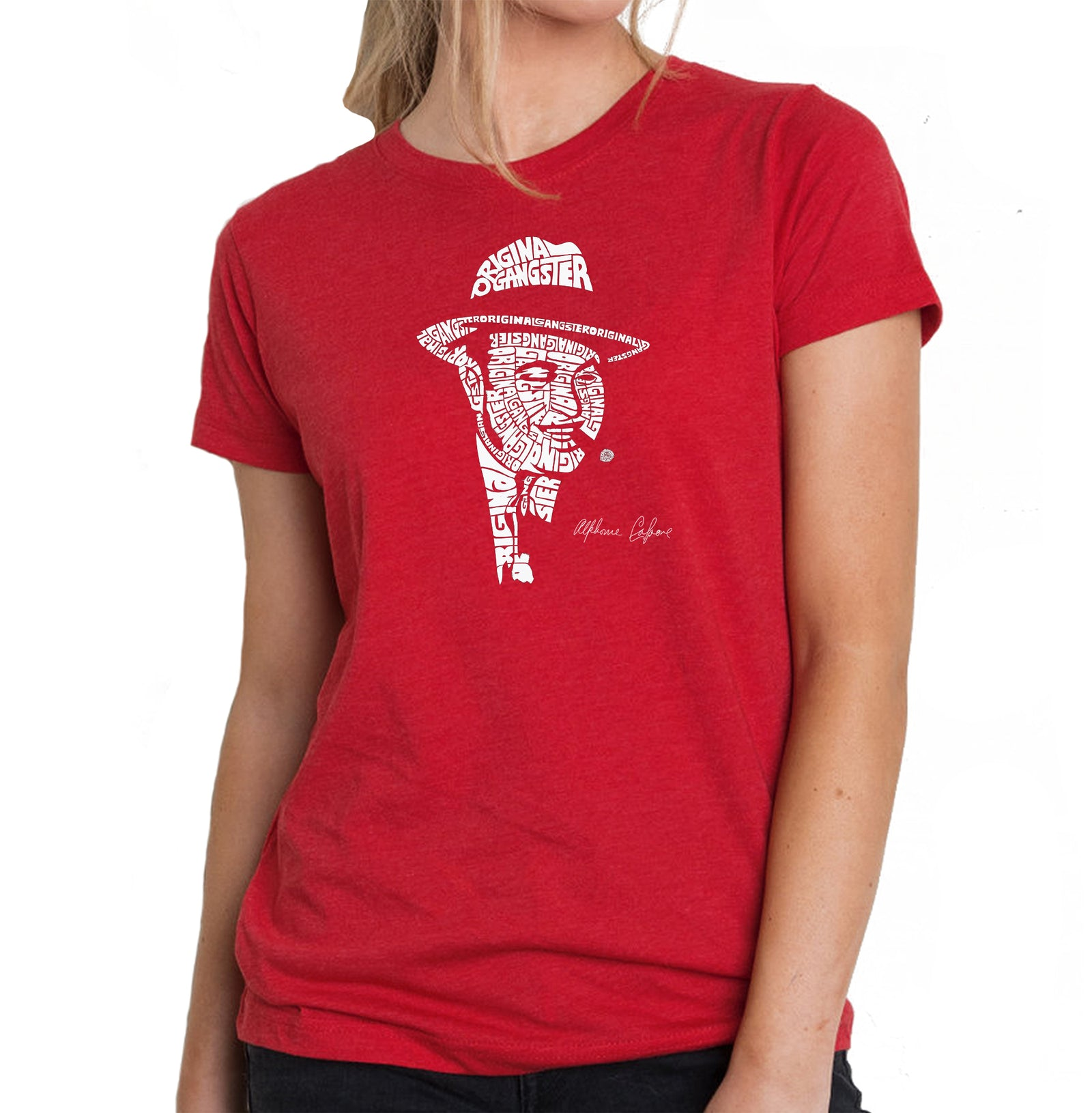 Women's Premium Blend Word Art T-shirt - AL CAPONE-ORIGINAL GANGSTER